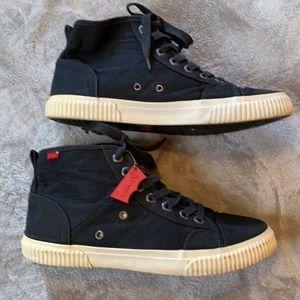 Levi's Black Canvas Upper Men's Shoes